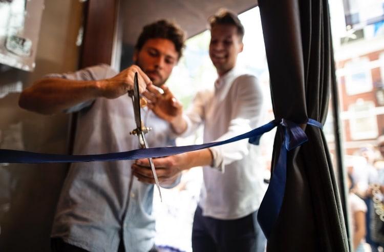 Opening nieuwe vestiging de Pizzabakkers Willemsparkweg