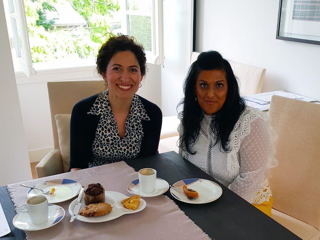 Nadine Witteman Aan tafel bij